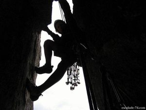 Rocher de Leschaux : Dièdre des Annemassiens (L3 : 6a) - Photo Romain Vulliet ©
