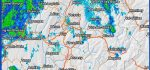 image radar avec application iOS de Météociel